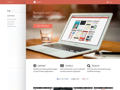 Collect UX flat design visual design research