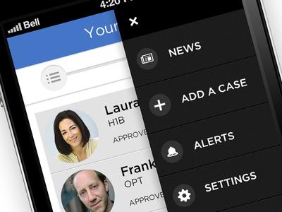 Immigration App flat design ios design