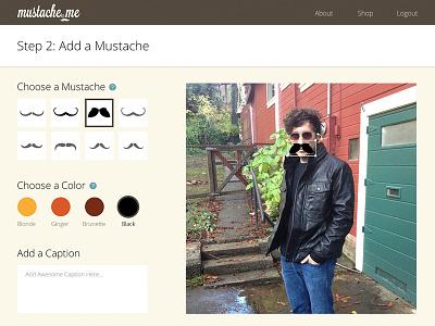 Mustache.me mustache webdesign flat