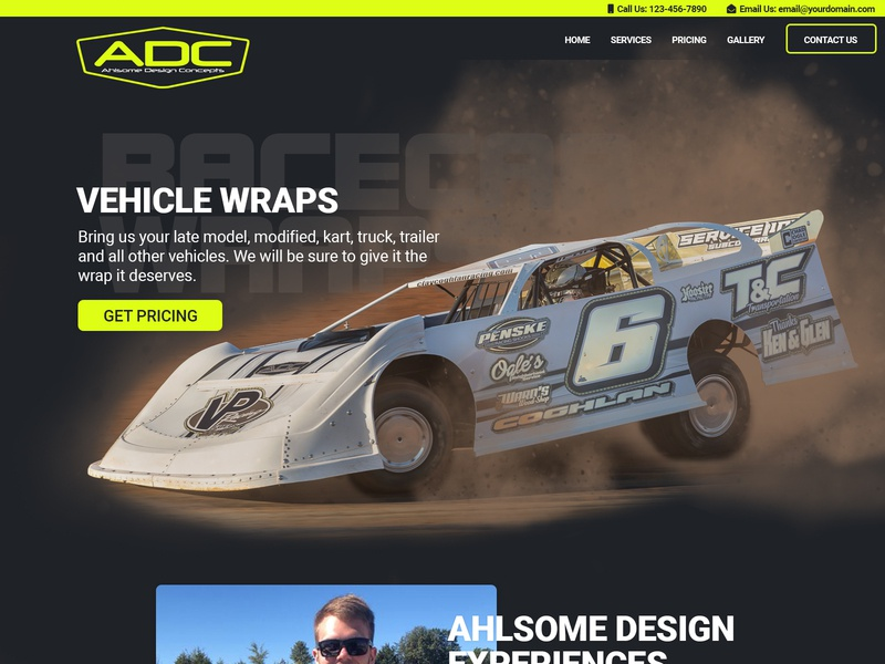 Front Page Website Mockup website concept header dirt track racing dirt racing graphic design design headers website headers website design front page front page mockup website