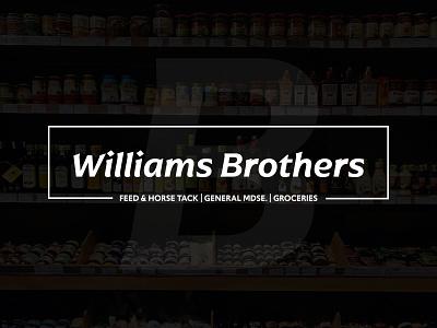 Williams Brothers dribbbleweeklywarmup minimalist logos logo identity branding brand
