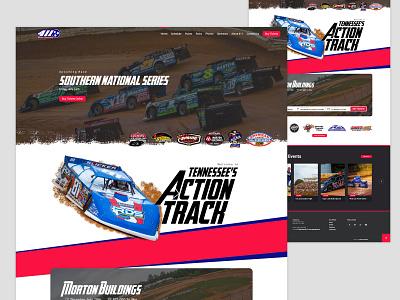 411 Speedway Homepage Mockup website concept design website clean website design dirt track racing header headers ui