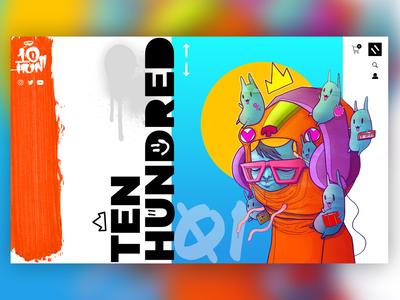 Ten Hundred Art - Website Landing Revamp