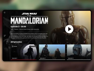 The Mandalorian Streaming Landing Page
