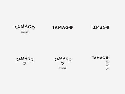 Tamago Logo bw blackandwhite japanese circle exploration identity logo egg tamago