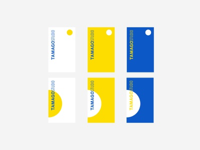 Tamago Exploration yellow blue circle exploration identity logo egg tamago