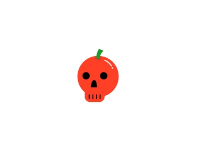 Candy Apple Skull red illustration vector halloween skull apple candy