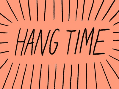 Hang Time Gif gif art gif coral hand drawn illustration gif animated