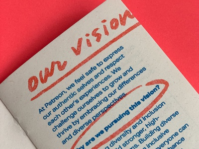 Patreon's Diversity & Inclusion Zine red illustration diversity zines risograph riso