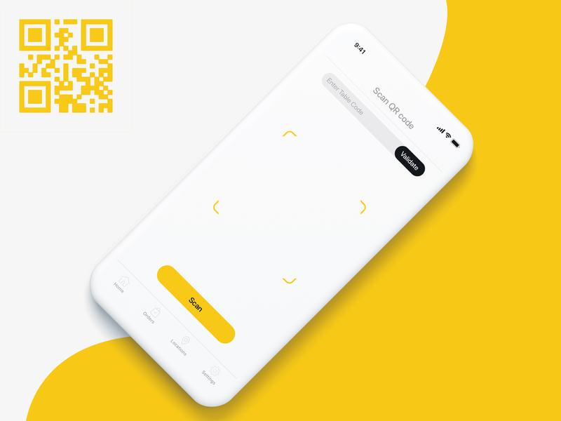 QR scanner clean design flat web ux mobile minimal interaction buttons mobile app user experience user interface design user interface ui designer ux designer ux-ui ux  ui app design app ui