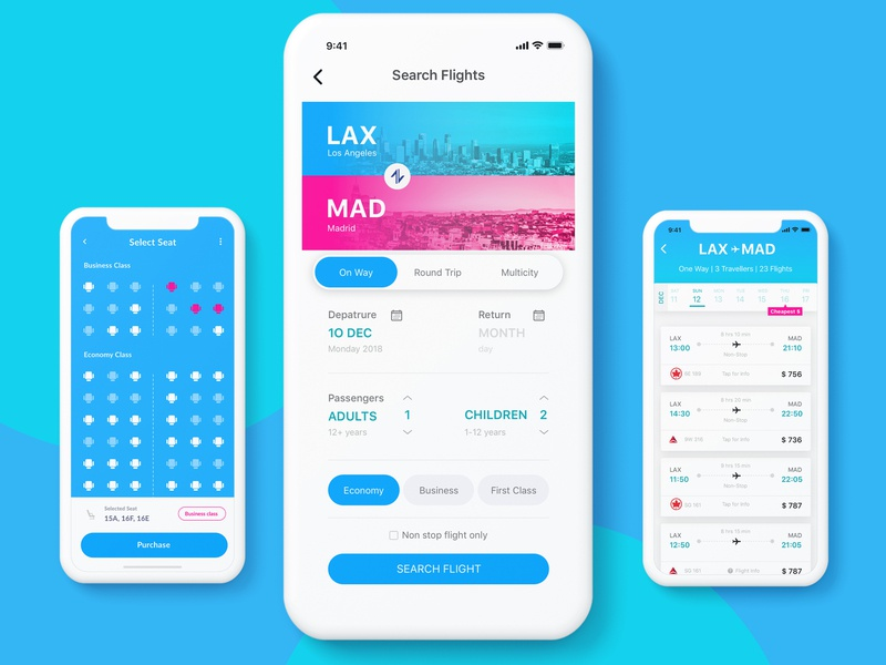 Flight Booking App booking ui app app design ux  ui ux-ui ux designer ui designer user interface user interface design user experience mobile app buttons interaction minimal mobile ux web flat design