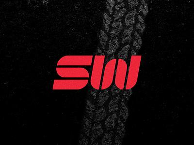 SW Motors - Symbol tire mark tire strong logo red logo motorcycle logo brand identity motors brand motors logo motors logo sw symbol
