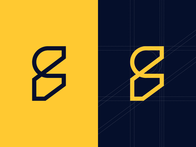CF Symbol + Grid logotype civil engineering construction architecture brand identity design brand identity brand design yellow logo cf design brand cf brand cf logo grid