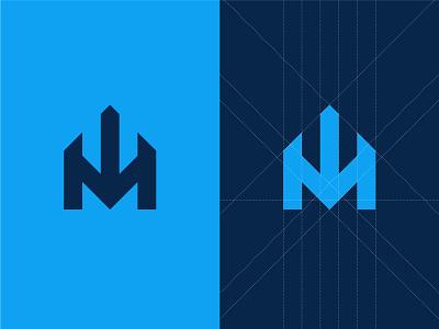 Immersion - Logo Design visual brand identity blue and white imersão symbol church symbol symbol im im logo church design deep arrow grid church church logo logo brand design branding immersion
