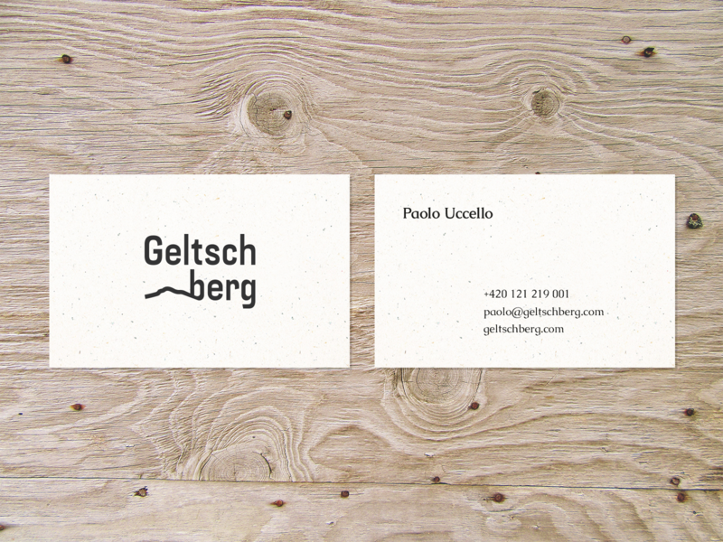Geltschberg  business card czechia bohemia branding typography logo