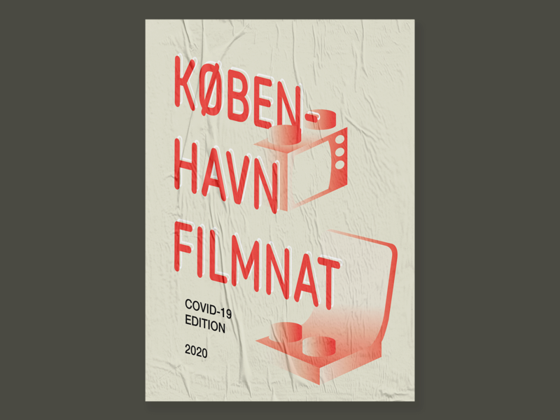 København filmnat - covid edition atypo.es @atypo television chair illustration lego poster typography stay home