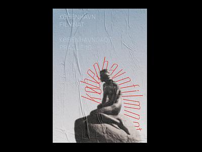 København filmnat summer illustration poster typography