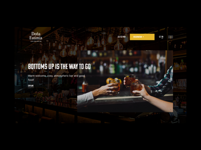 Concept for a Cuban bar website web typography barman bar layout brand drinks website
