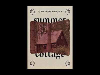 summer cottage print summer cottage typography poster