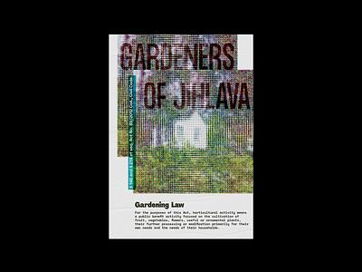 Gardeners of Jihlava zahradkáři print gardeners snowdropfestival poster typography