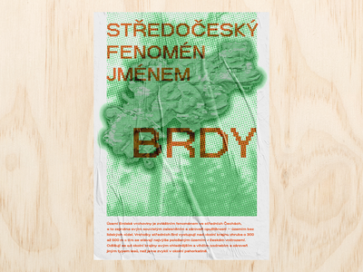 Brdy hills forest poster print typography