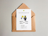 Lego Themed Wedding Invitation