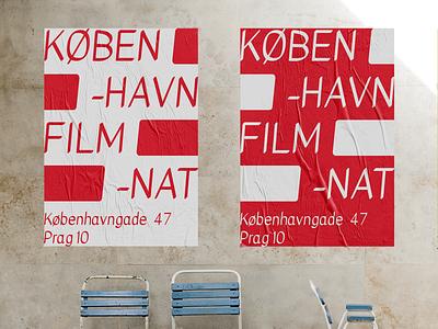 København filmnat layout typogaphy film poster