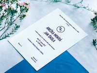 wedding invitation for Anežka and Jan