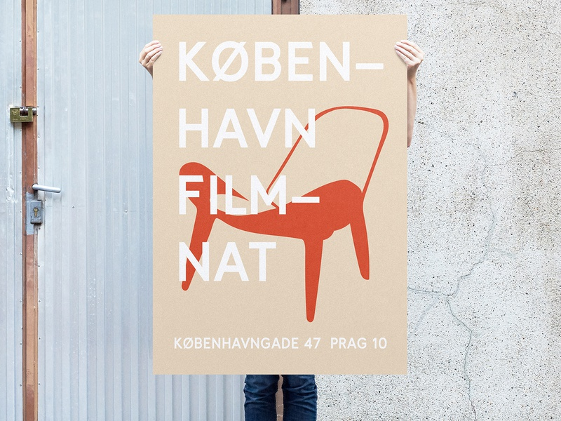 København filmnat2 typography chair poster