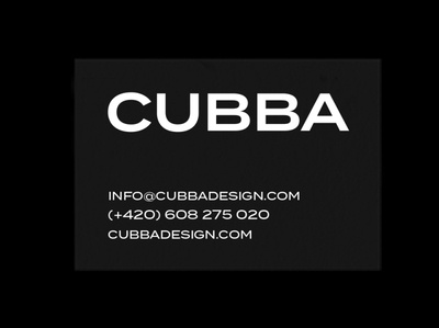 Business card CUBBA logo typography print business card