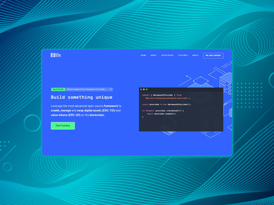 Landing page for a framework front end landing page web ui