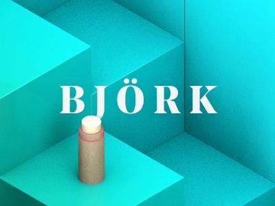 Björk typography 4d cinema cgi