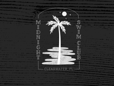 Midnight Swim Club florida palm design logo