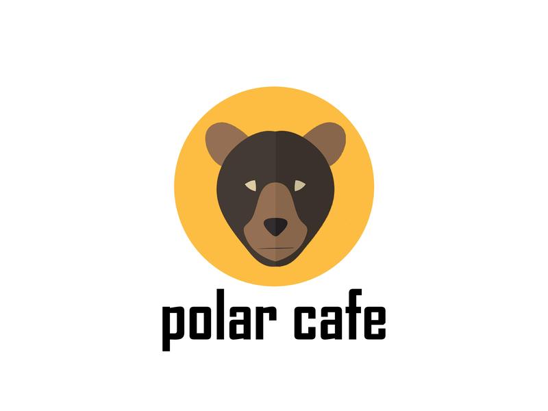 polar Cafe branding agency cafe branding cafe logo cafe branding logo 2d logo vector website vector art illustration design