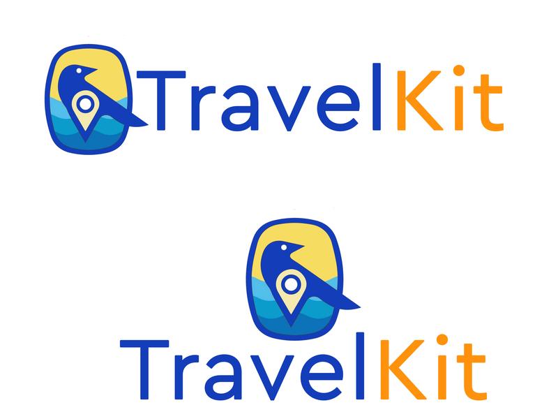 Travel Kit logo a day illustrator design art cafe branding cafe travel app travel agency travel 2 travel logotravel identity website logo 2d vector art logo branding flat illustration vector design