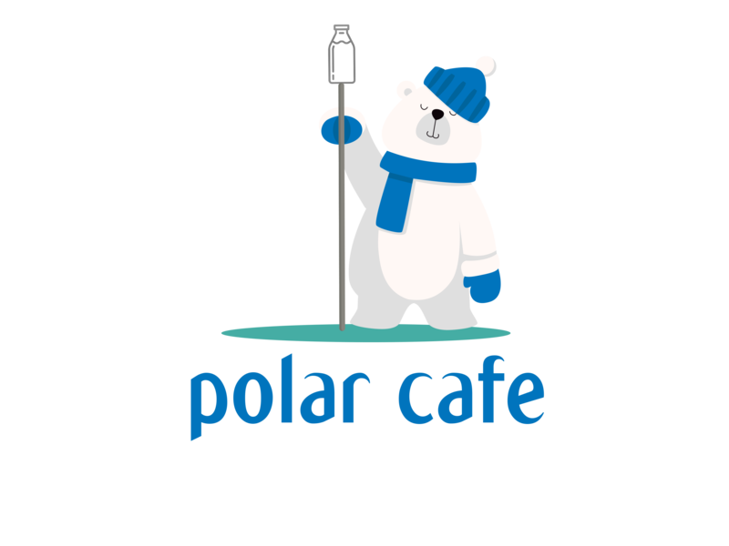 Polar Cafe Logo cafe logo clean photoshop art photoshop logo a day design art illustrator cafe cafe branding logotravel identity website logo 2d vector art logo branding flat illustration vector design