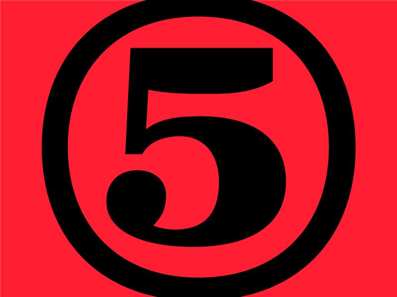 ⑤ type font ⑤ bold circled digit five type design zapf dingbats ff quixo
