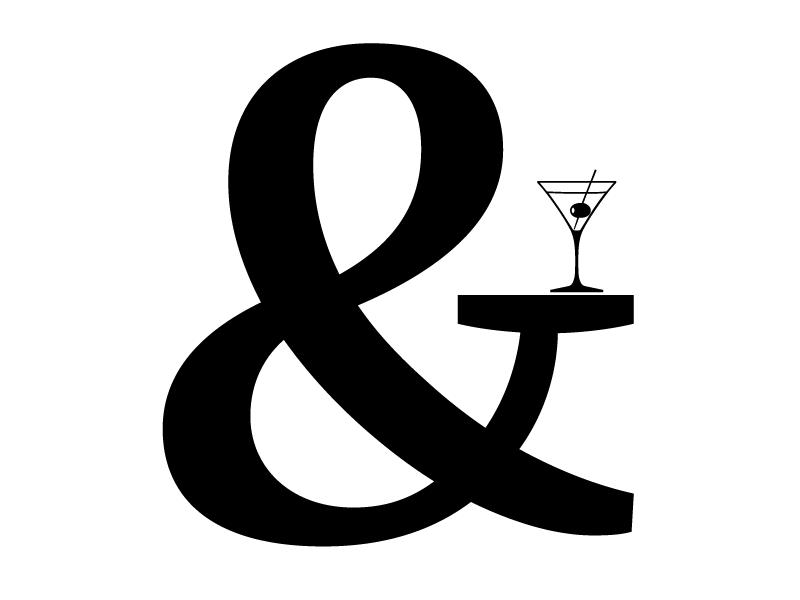 Cheers, FF Quixo! ff quixo quixo ampersand type font martini drink type design
