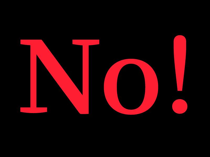 No! no regular type font no! type design ff quixo