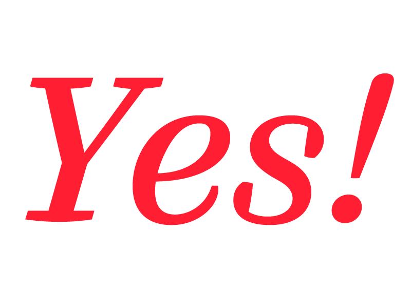 Yes! yes italic font type yes! ff quixo type design