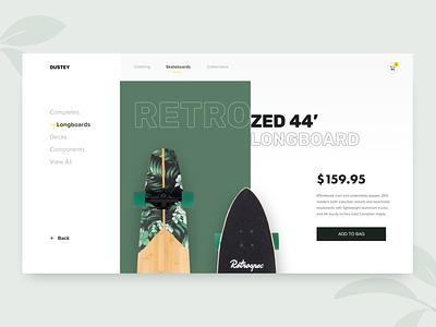 Skate store - Product page hello dribble debut lettering green sport typography app minimal website branding interface ux ui layout skateboard skate shop design web arounda