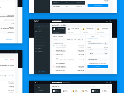 Gigzi - Wallet design blockchain wallet crypto currency gigzi application sketch interface notification strategy analysis business ux ui app web concept arounda