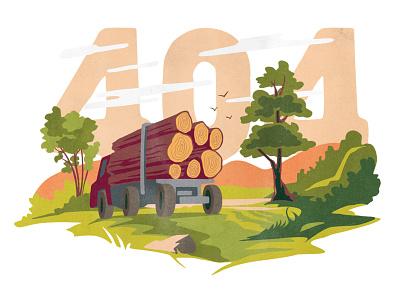 Timbermarket 404 404 illustration