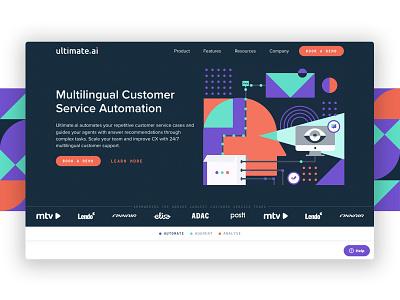 ultimate.ai homepage ui web development digital agency web agency webdesign website branding