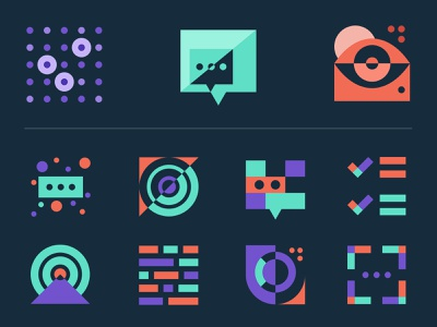 ultimate.ai icon set illustration web agency digital agency branding and identity brand agency branding iconography icons