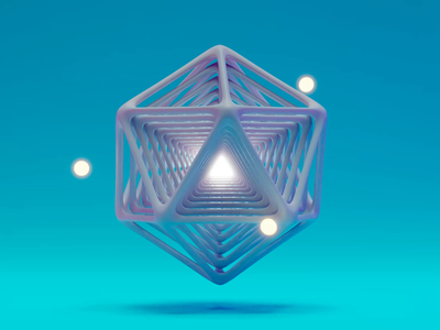 Atomic loop concept atom music colorful simple animation 3d blender