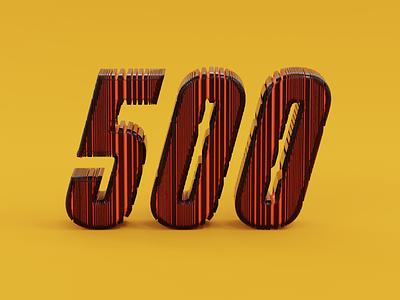 500 illustration 500 number colorful simple blender 3d