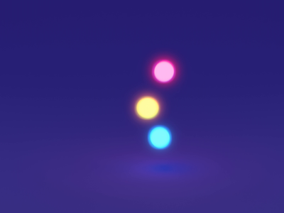 Loading Animation yellow pink blue loop balls 3d blender colorful animation simple