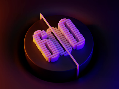 600 followers 0 6 number 600 sound design loop colorful simple animation concept blender 3d