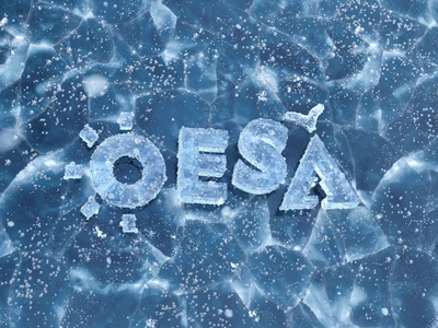 OESA - Icy 3D illustration loop snowflake ice icy illustration branding frozen snow logo detailed blender 3d